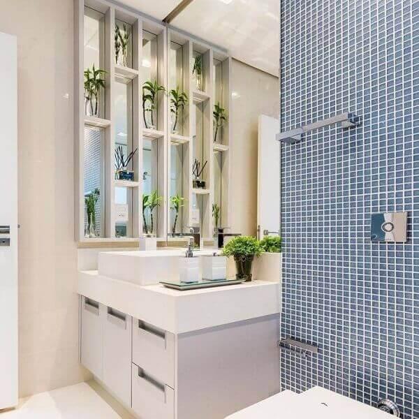 Nicho para banheiro decorativo