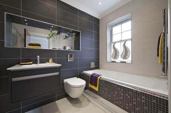 Nichos para banheiro espelhado