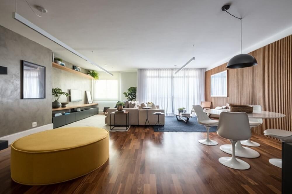 O puff para sala pode ser utilizado para dividir ambientes