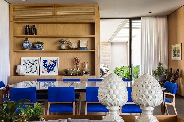 Os nichos para sala de jantar ajudam na organização do ambiente