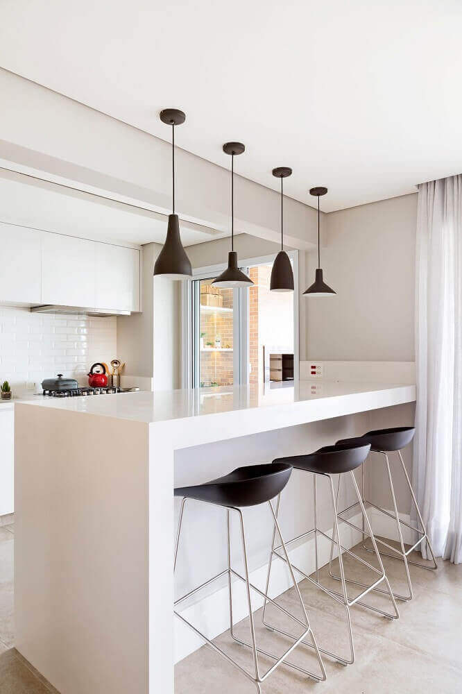 Pendente para cozinha preto