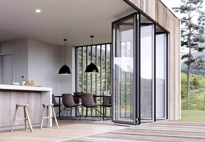 Porta camarão integra ambientes e traz elegância para a arquitetura da casa