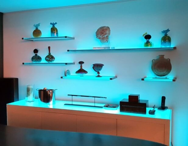 Prateleira de vidro combinadas