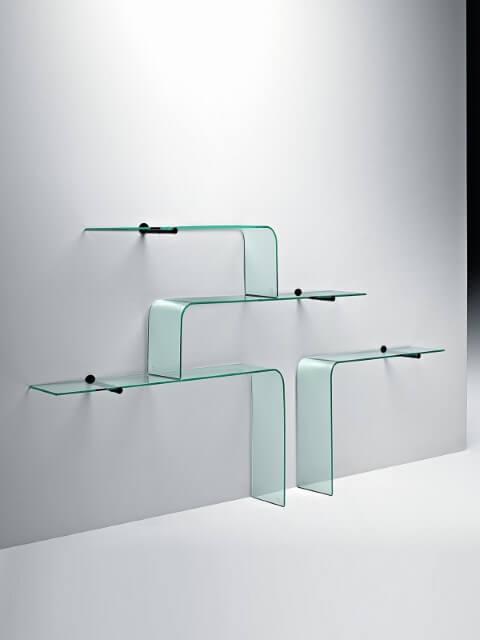 Prateleira de vidro diferente