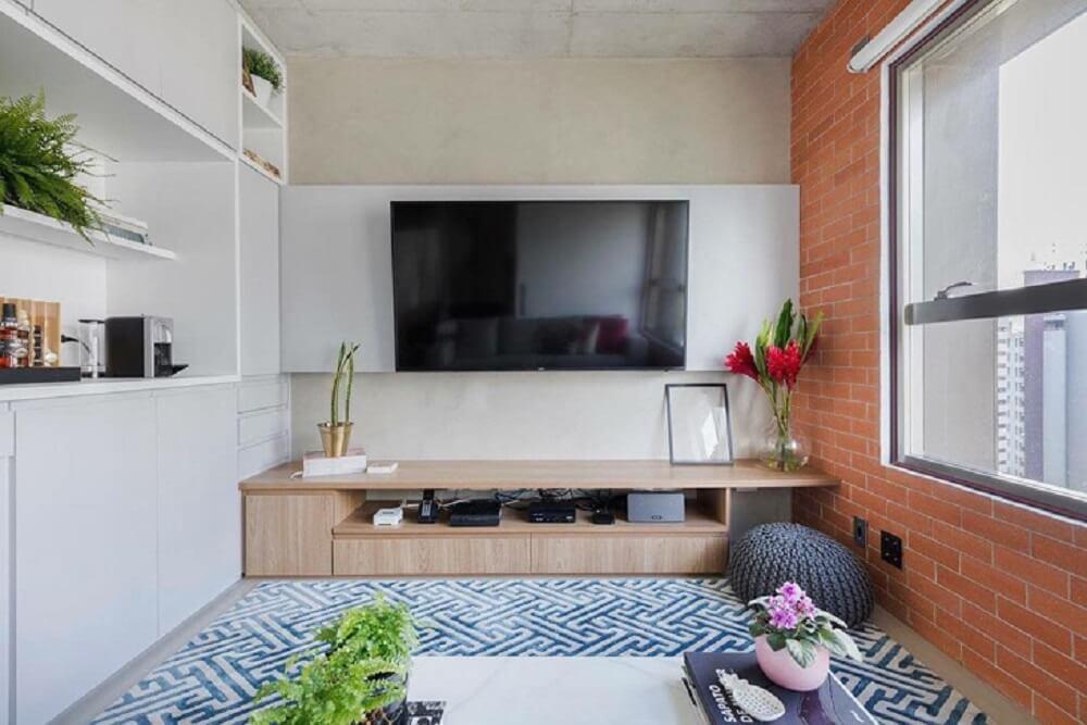 Puff para sala pequena de TV