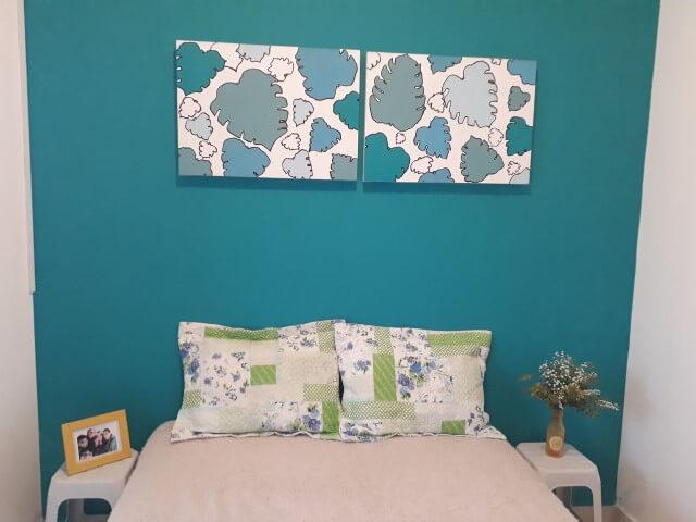 Quarto azul Tiffany Projeto de Sonia Pozo Prado Mello