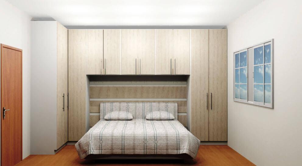 armário com cama de casal embutida