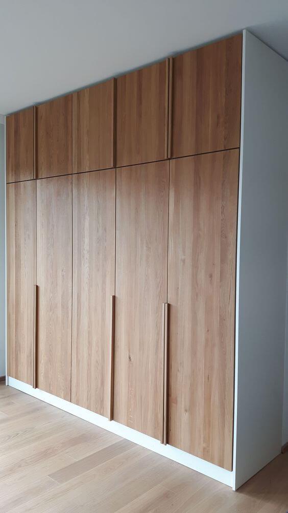 Armário embutido para quarto moderno