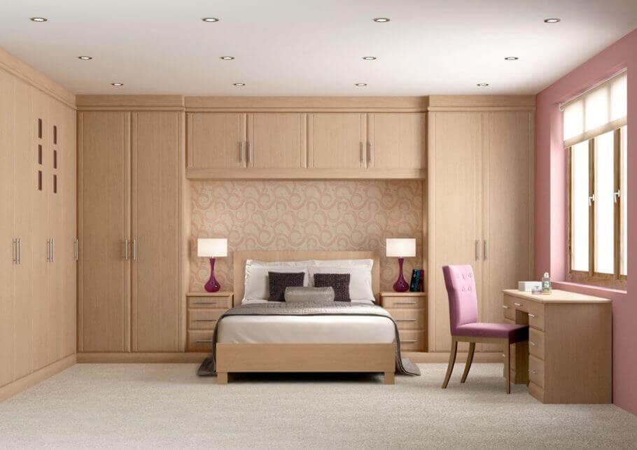 armário com cama embutida planejado para quarto de casal