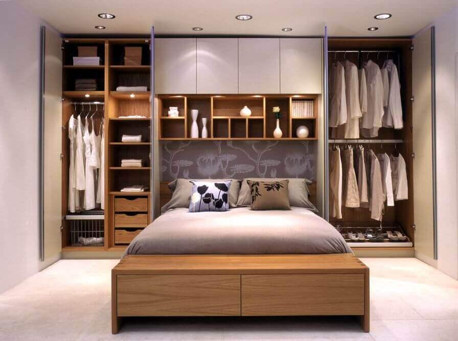 armário com cama embutida