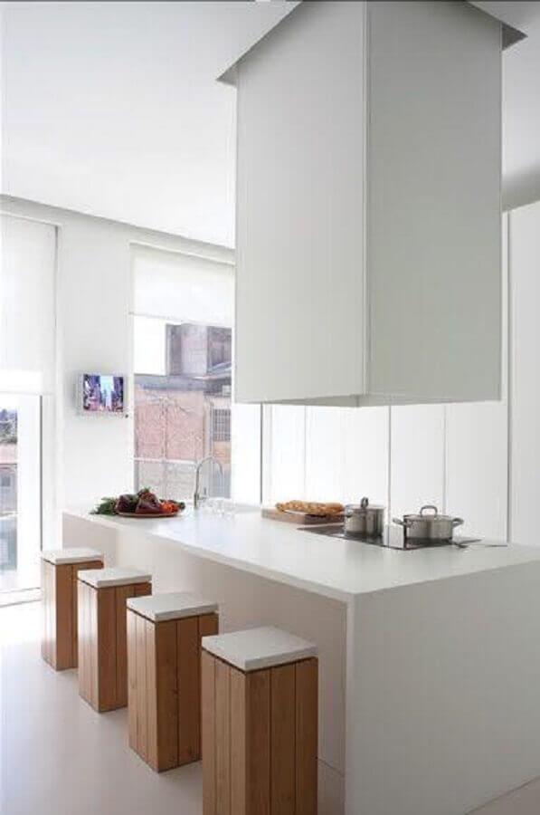 banquetas baixas para cozinha sem apoio para os pés