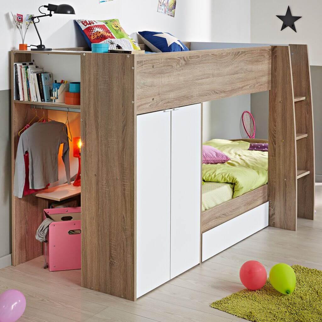 beliche com armário embutido para quarto infantil
