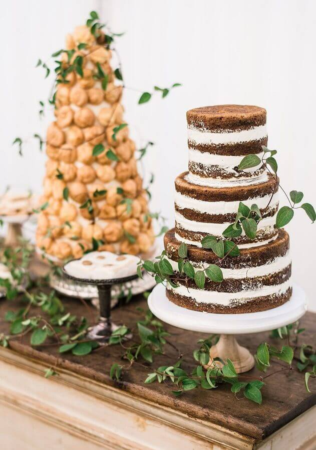 bolo para casamento na praia simples Foto Assetproject
