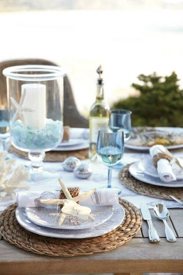 casamento na praia com mesa decorada rústica Foto Air Freshener