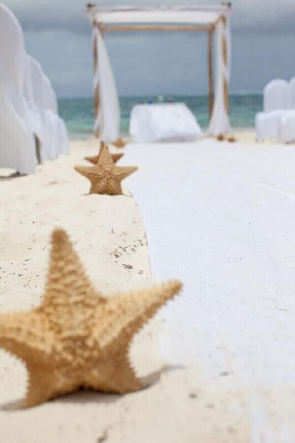 casamento na praia simples decorado com estrelas do mar Foto Air Freshener