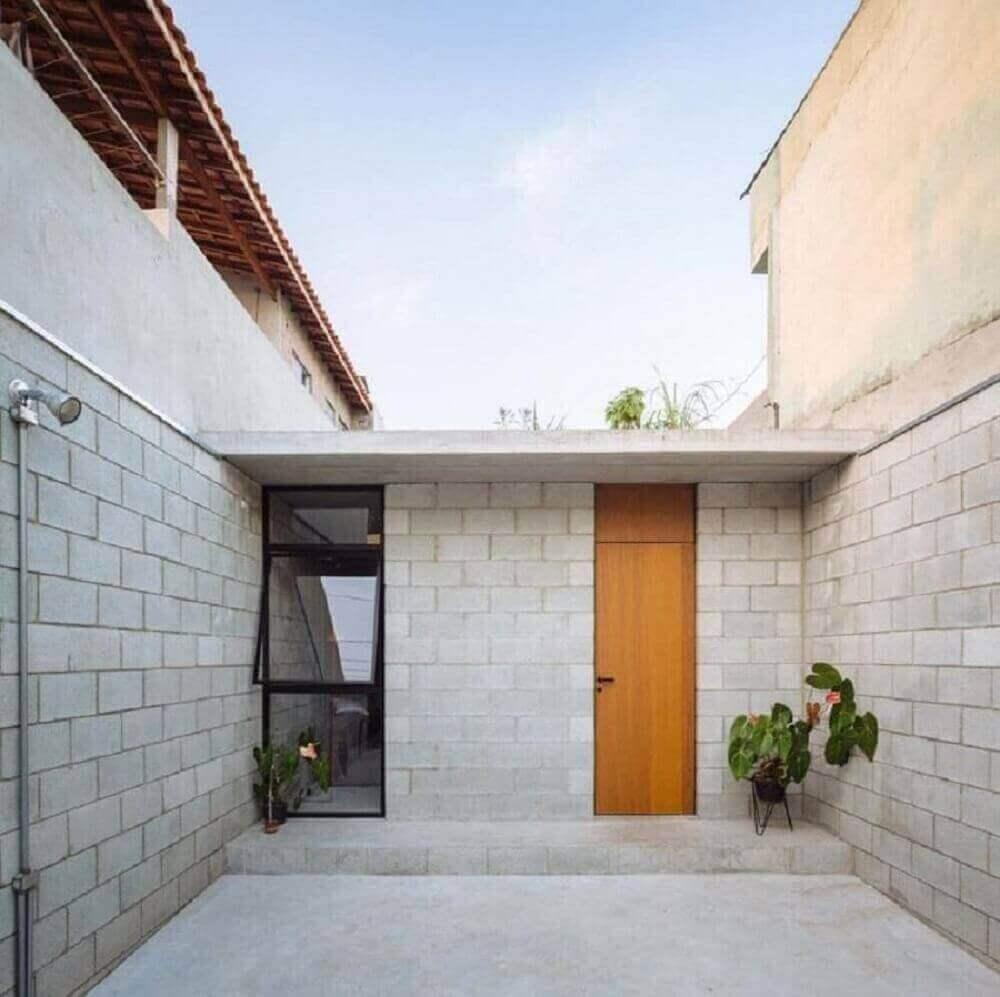 casas pequenas com telhado platibanda