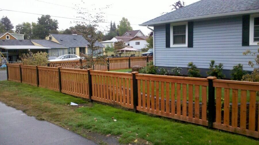 Casa cerca de madeira