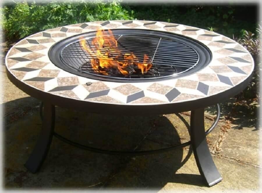 churrasqueira de ferro redonda