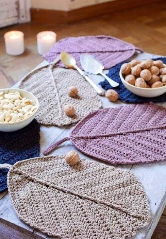 como fazer jogo americano de crochê
