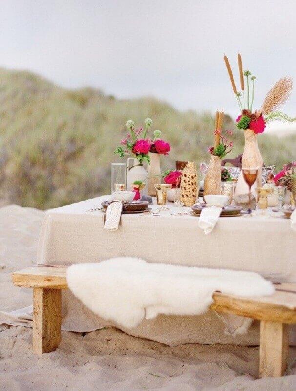 cores para casamento na praia