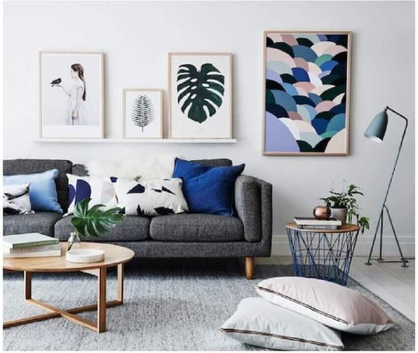 decoração clean e minimalista para sala
