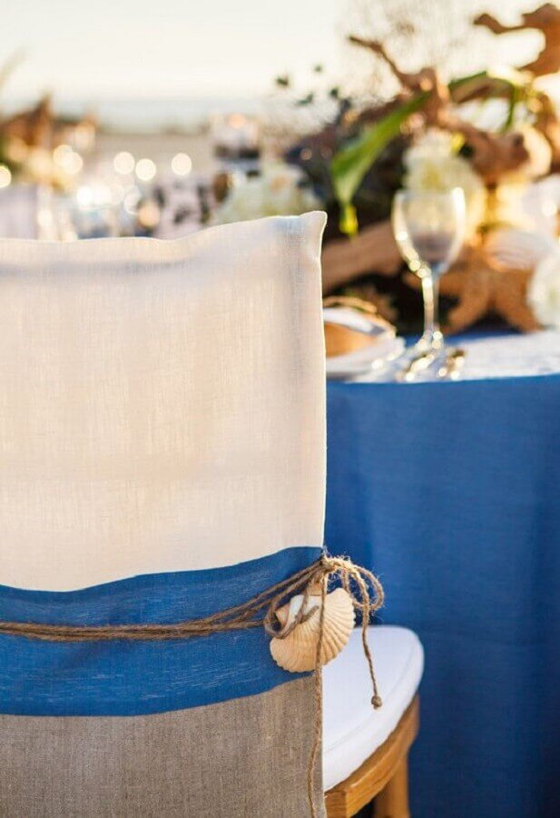 decoração com conchinha para casamento na praia simples Foto Details Of Elegance