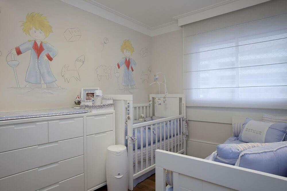 decoração com papel de parede infantil para quarto de bebê