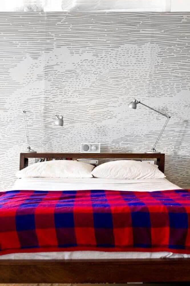 decoração de quarto jovem masculino minimalista