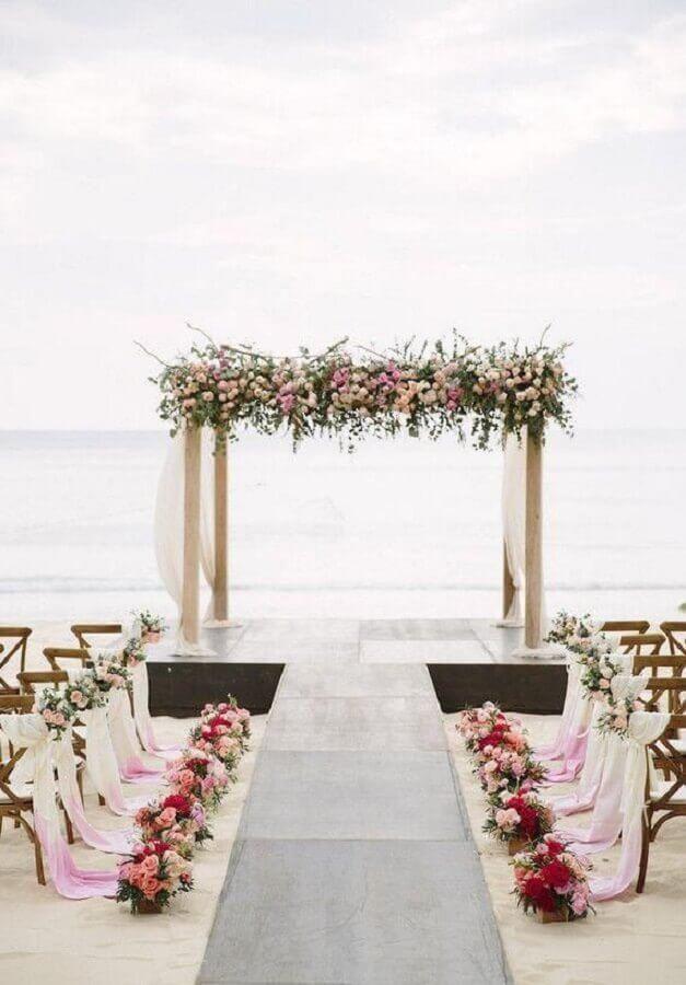 decoração romantica para cerimonia de noivado na praia Foto Neu dekoration stile