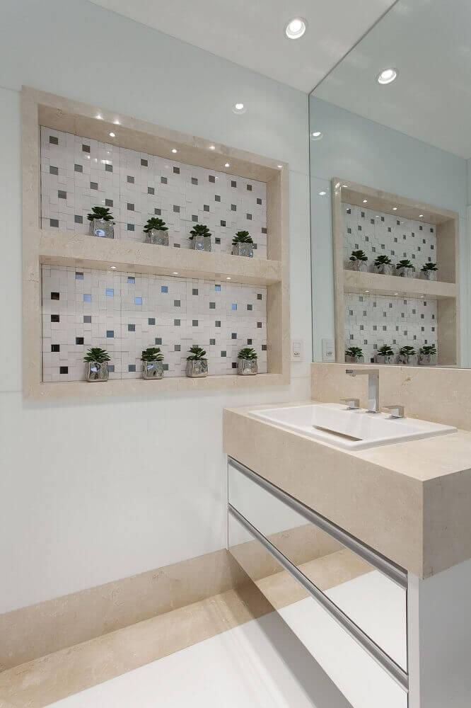 Modelos de nichos para banheiro com iluminação