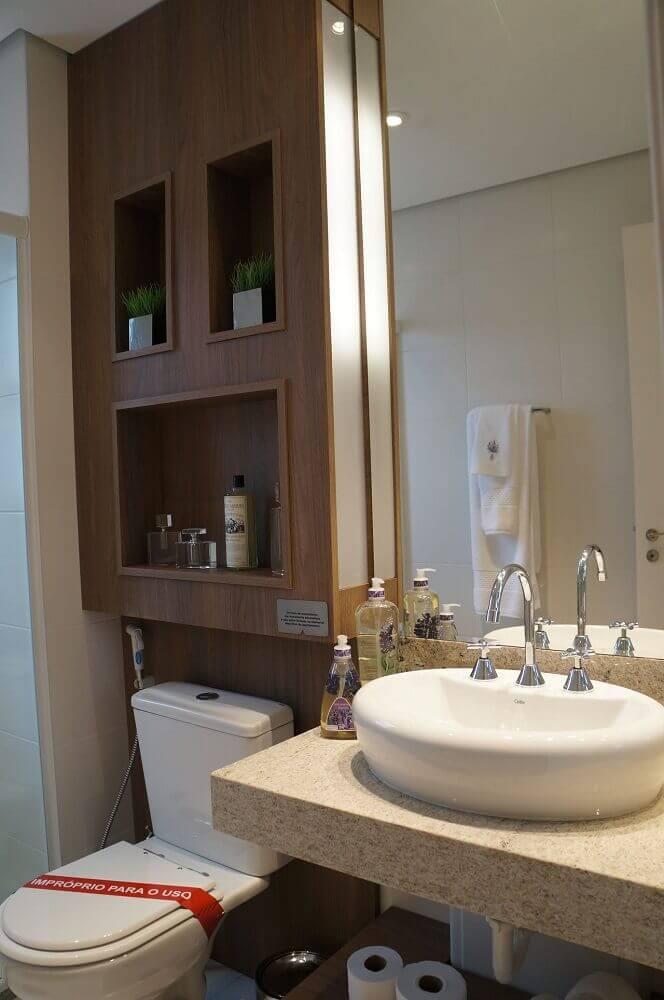 Modelos de nicho para banheiro de madeira