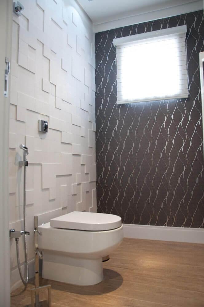 modelos de banheiro com textura na parede