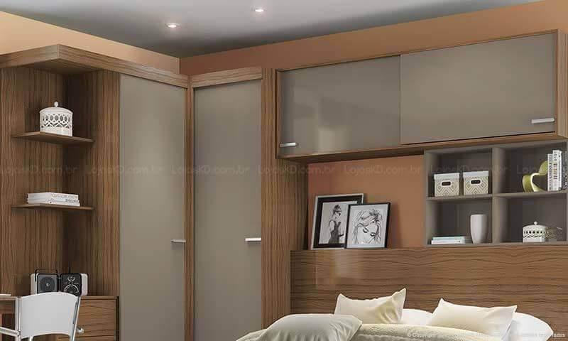 modelos de armários embutidos com cama