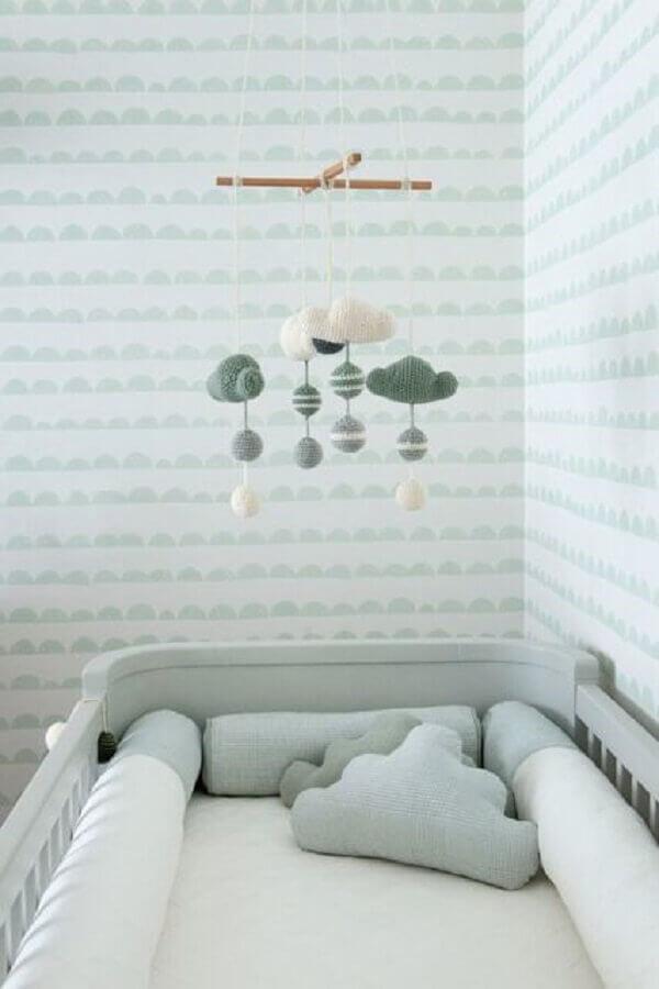 delicado papel de parede para quarto de bebê neutro