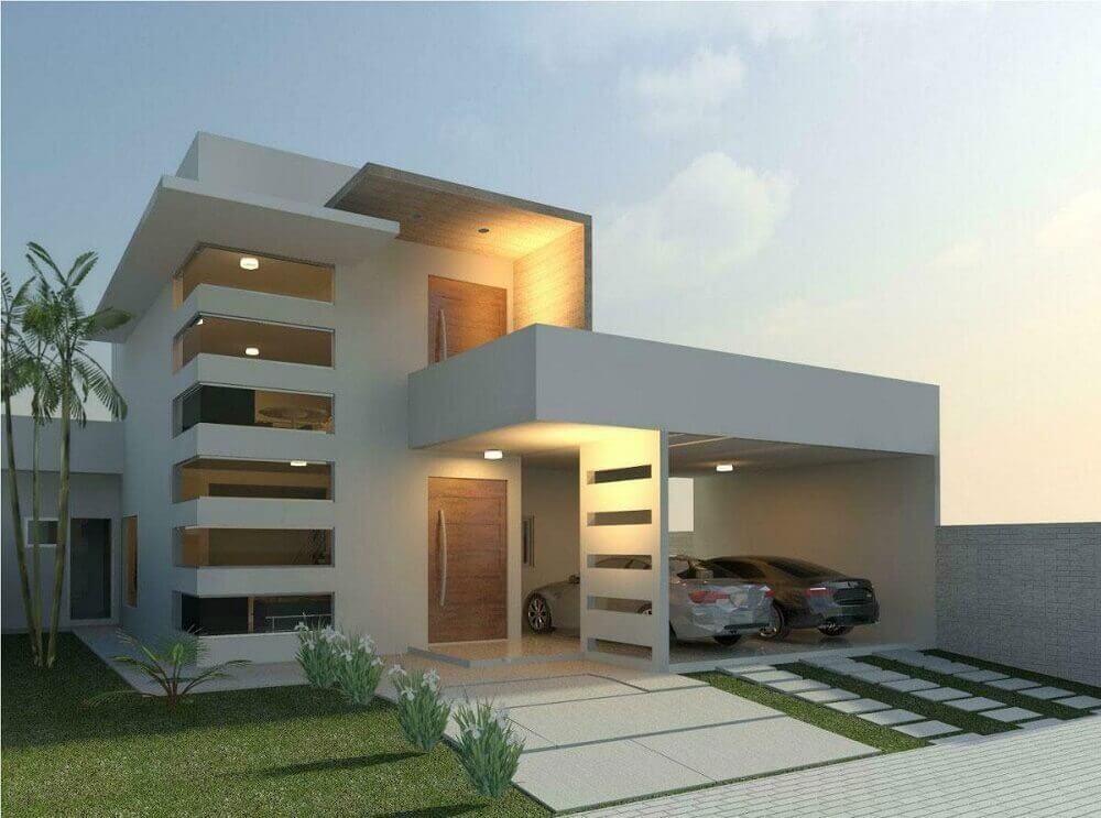 Platibanda o que 40 modelos de casas para se inspirar for Fachadas de casas de 2 pisos pequenas