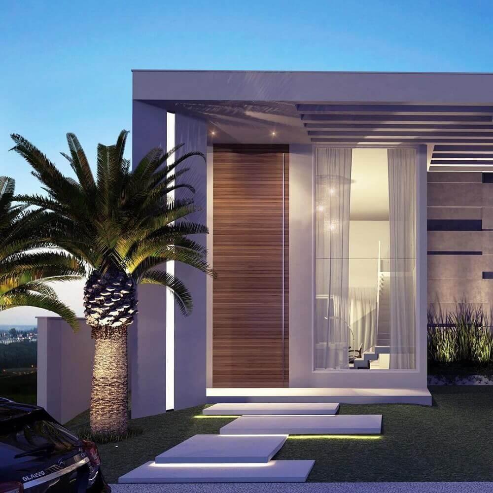 Platibanda o que 40 modelos de casas para se inspirar for Fachadas de casas modernas de 6 metros
