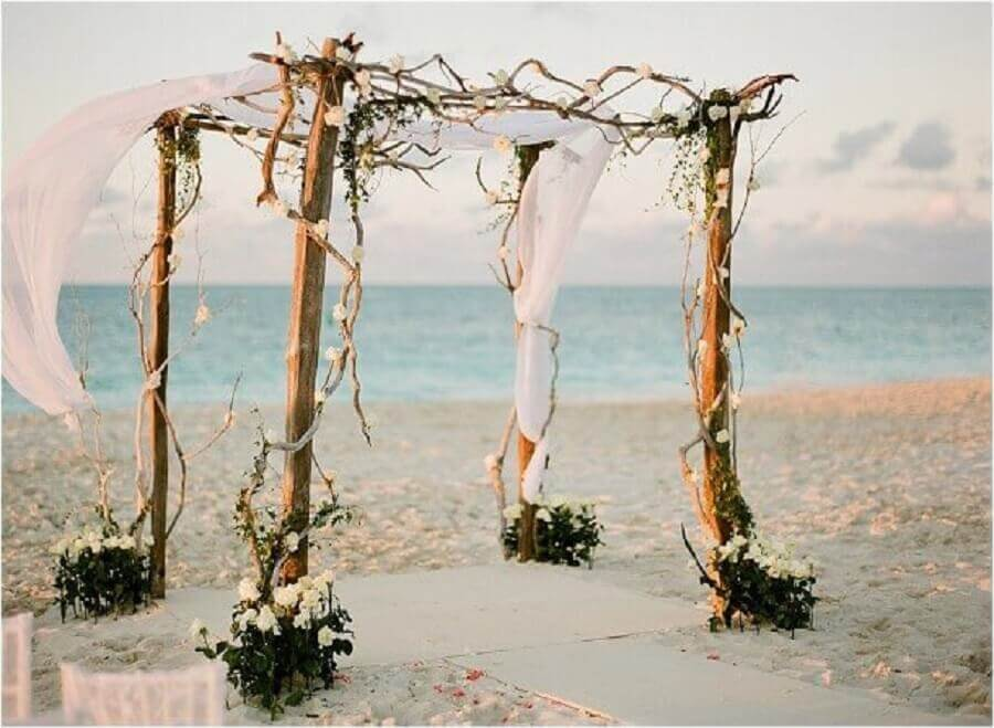Casamento na Praia 6 Dicas para um Casamento Paradisíaco # Decoração De Casamento Na Praia