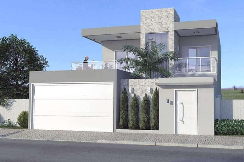 50 modelos de frente de casas para inspirar o seu projeto for Casas modernas simples