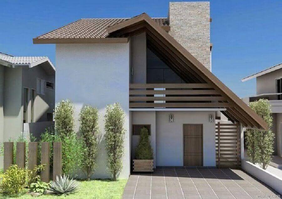 frente de casas simples e lindas