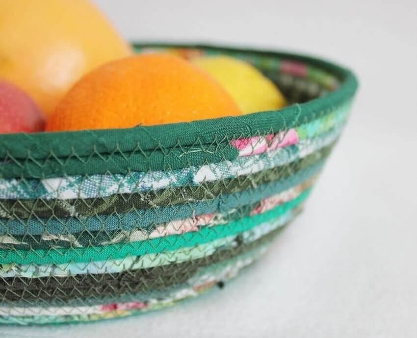 fruteira de artesanato para cozinha