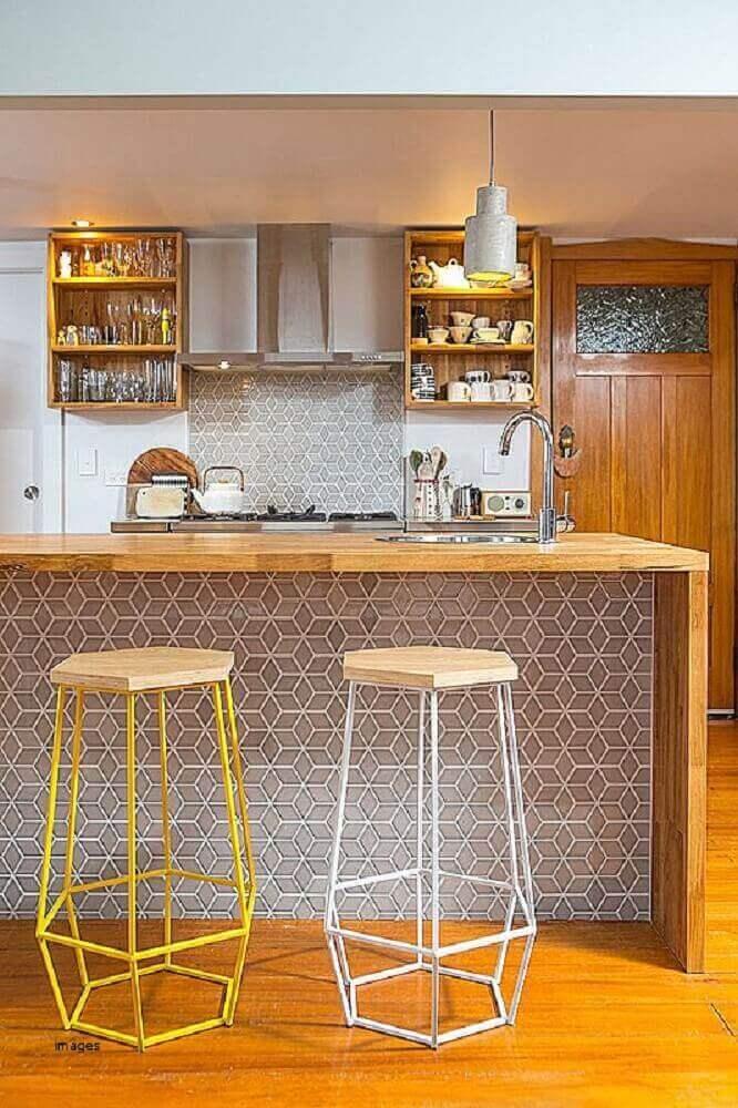modelo arrojado de banquetas para cozinha Foto Pinterest