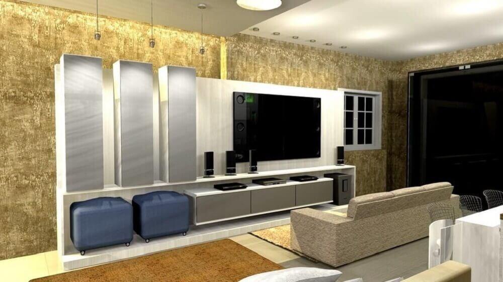 Modelo simples de puff para sala de estar