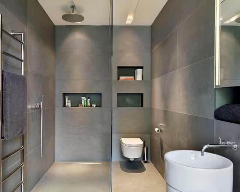 modelo de banheiro pequeno e moderno