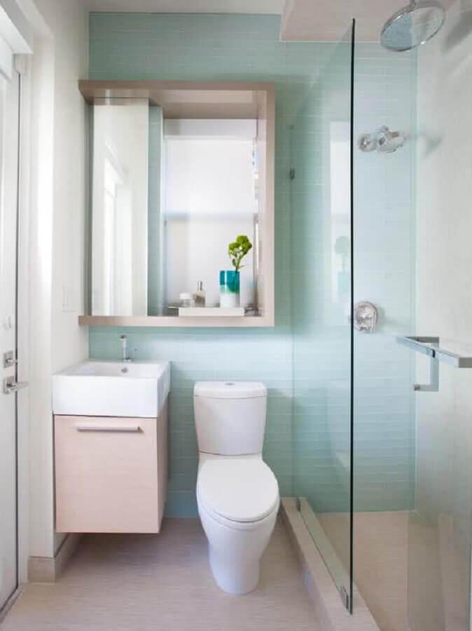 Modelo de banheiro simples e pequeno