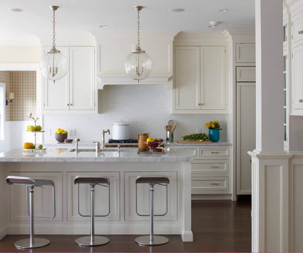 modelo de vidro de pendente para bancada de cozinha