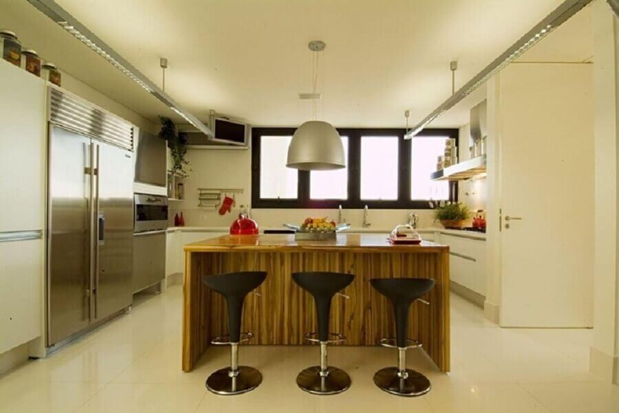 modelo grande de pendente para cozinha com ilha Foto A1 Arquitetura