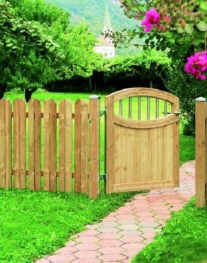 modelo de cerca de madeira para jardim