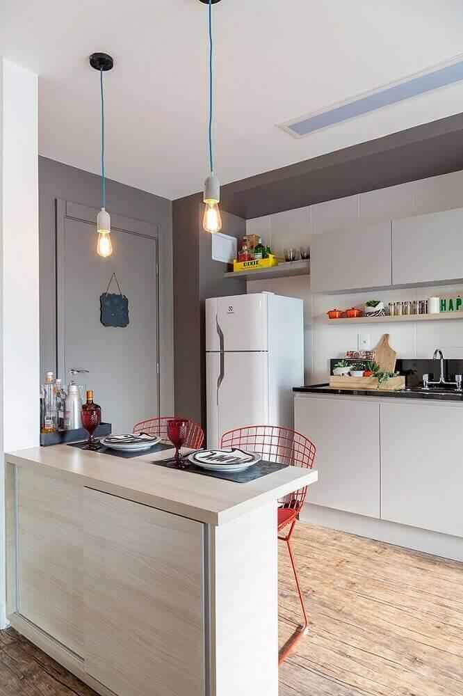 modelo minimalista de pendente para bancada de cozinha