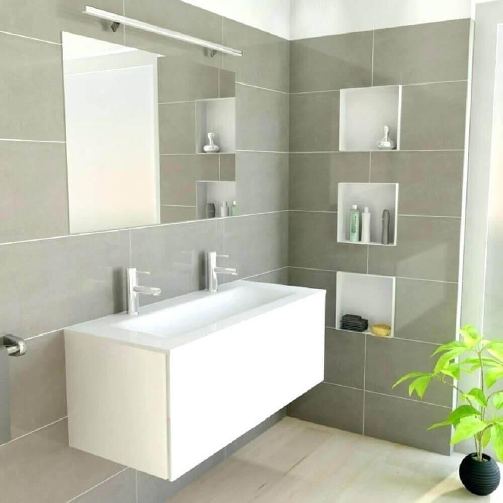 modelo simples de nicho para banheiro