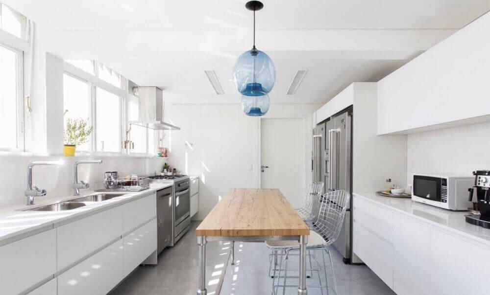 modelo transparente de pendentes para cozinha